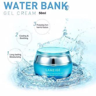 Hình ảnh củaLANEIGE - Water Bank Gel Cream 50ml (Kem Dưỡng Ẩm) - Hàn Quốc