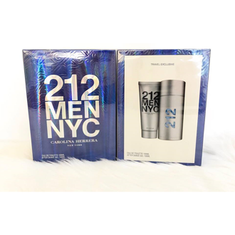 Bộ quà tặng nước hoa, gel cạo râu after shave Carolina Herrera 212 Men NYC 100ml