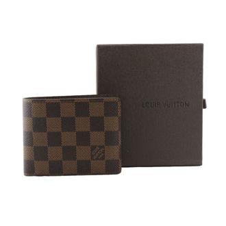 Hình ảnh củaVí Nam Louis Vuitton Ca Rô Nâu (Có túi nhỏ bên trong)