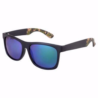 Hình ảnh củaKính mát Shoreline Wayfarer Sunglasses - Black/Blue Mirror(Xách Tay Chính Hãng)