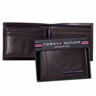 Hình ảnh củaVí Da Tommy Hilfiger Cambridge Billfold Wallet - Brown(Xách Tay Chính Hãng)