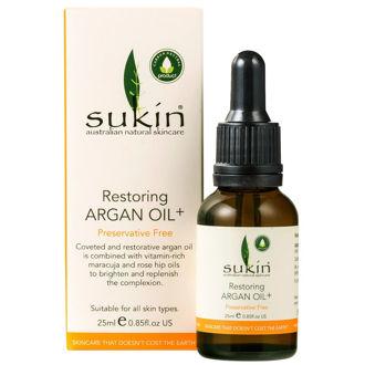 Hình ảnh củaTinh Dầu Sáng Da & Mờ Thâm Sukin Restoring Argan Oil (Xách tay chính hãng)