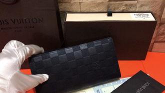 Ví Nam Louis Vuitton Dài - Ô Đen-LVAA5.02